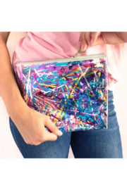 Packed Party Stream Big Everything Pouch - Front cropped
