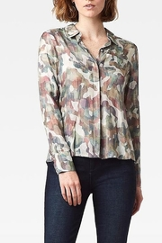 Ecru Streep Shirt - Front cropped