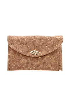 Shoptiques Product: Gold Cork Clutch