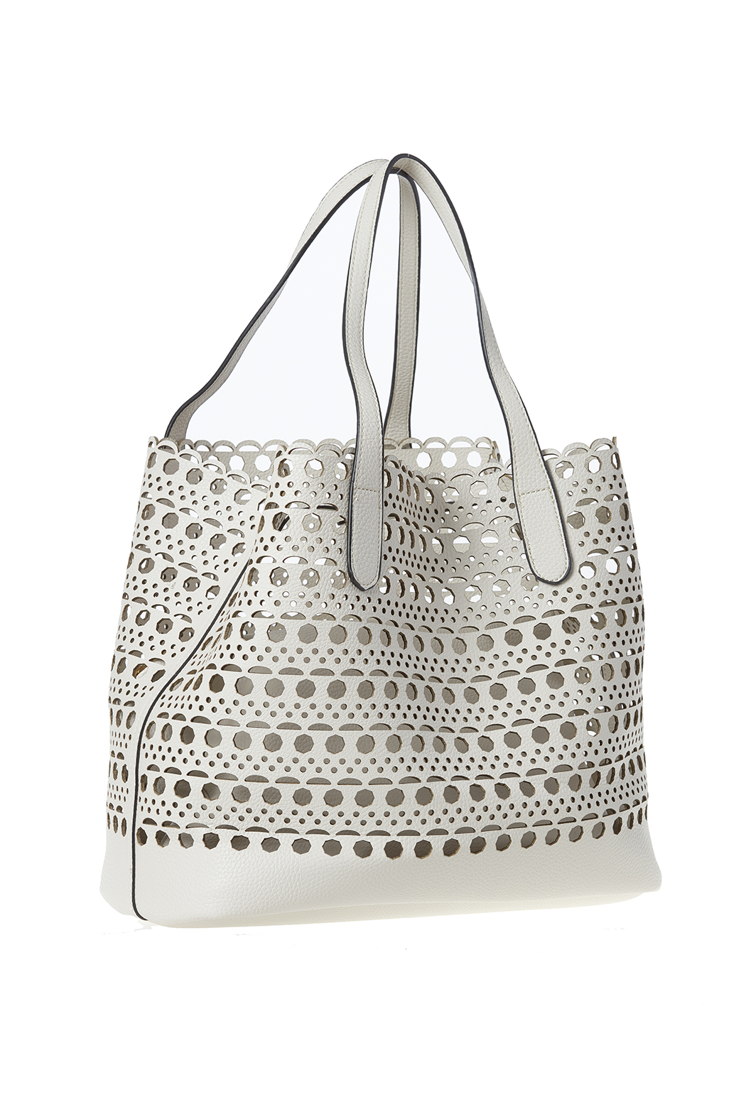 Street Level Perforated Tote Front Cropped Image