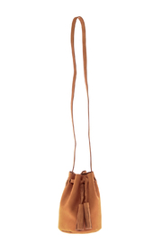 Street Level Suede Bucket Bag - Front cropped