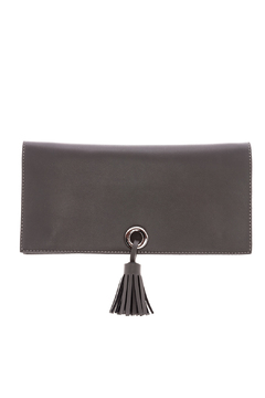 Shoptiques Product: Taupe Clutch With Tassel