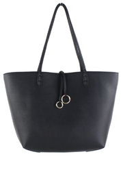 Street Level Black/tan Reversible Tote - Front cropped
