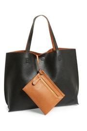 Street Level Black Tan Reversible Tote - Product Mini Image