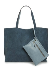 Street Level Blue Reversible Tote - Front cropped