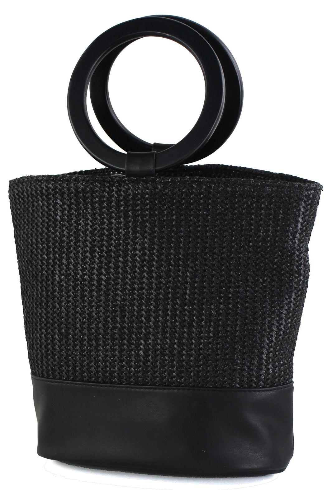 Street Level Circle Handle Bag - Front Cropped Image