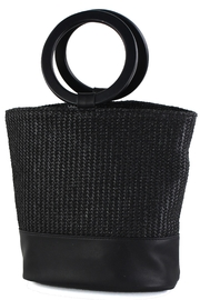 Street Level Circle Handle Bag - Front cropped