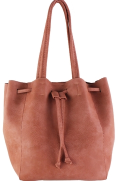 Shoptiques Product: Vegan Leather Drawstring Tote