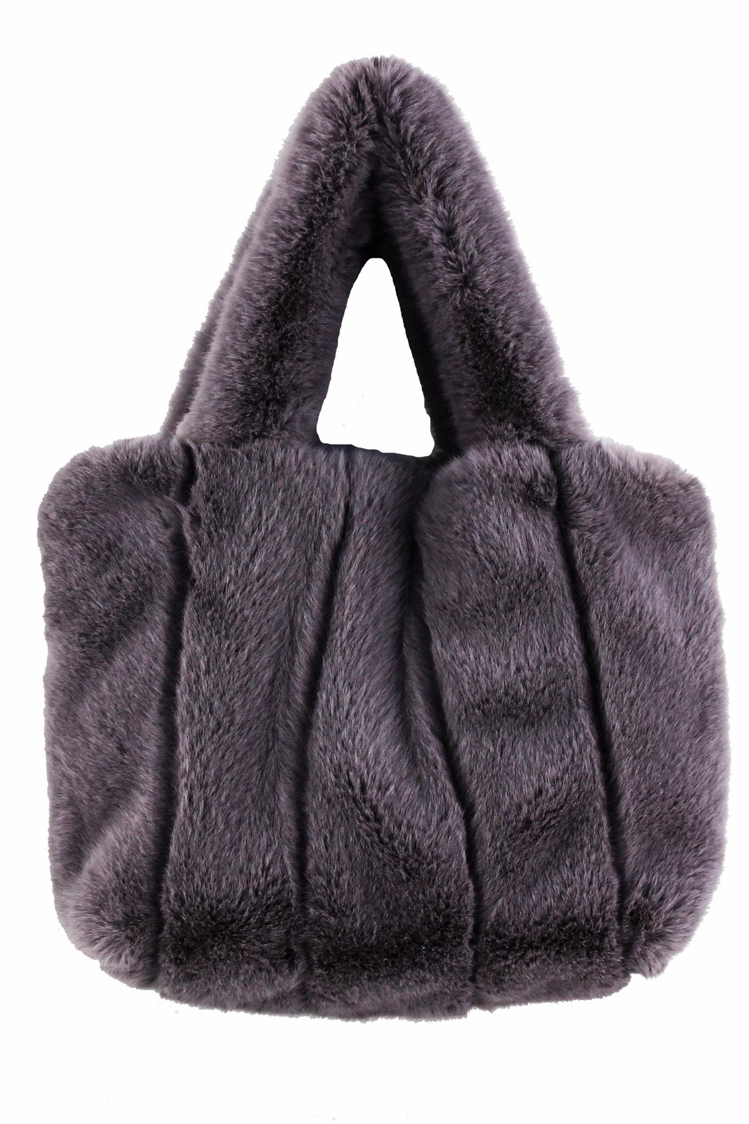 Street Level Faux Fur Tote - Front Cropped Image