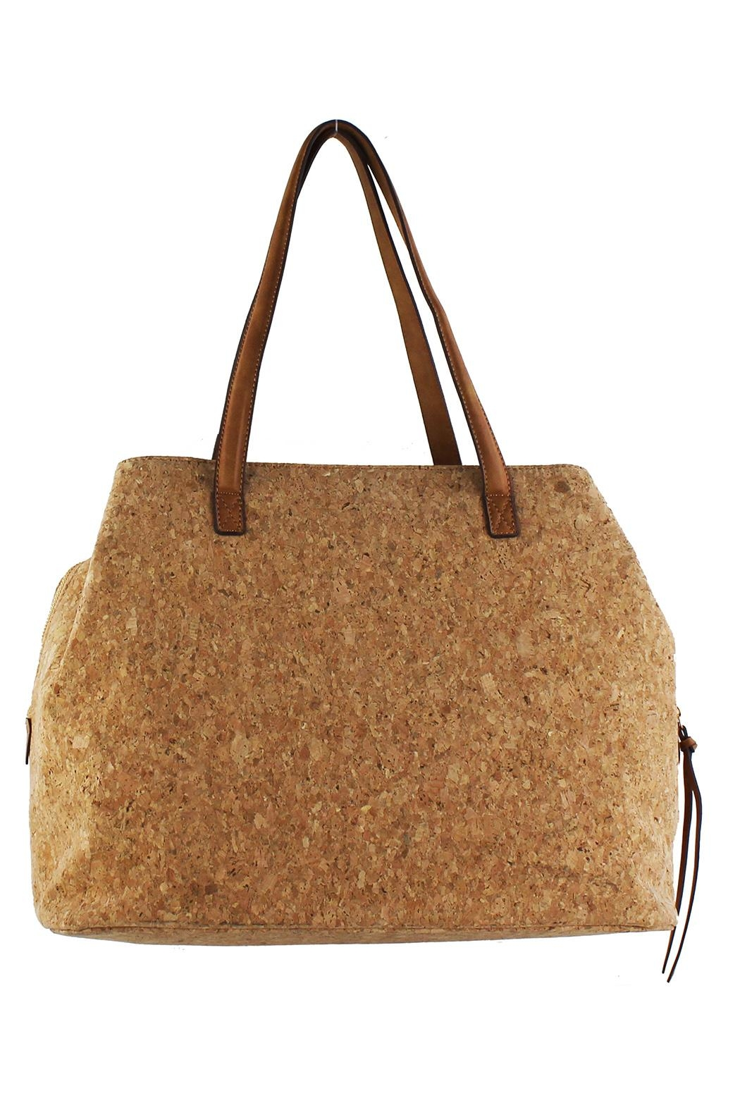 Street Level Large Cork Tote - Front Cropped Image