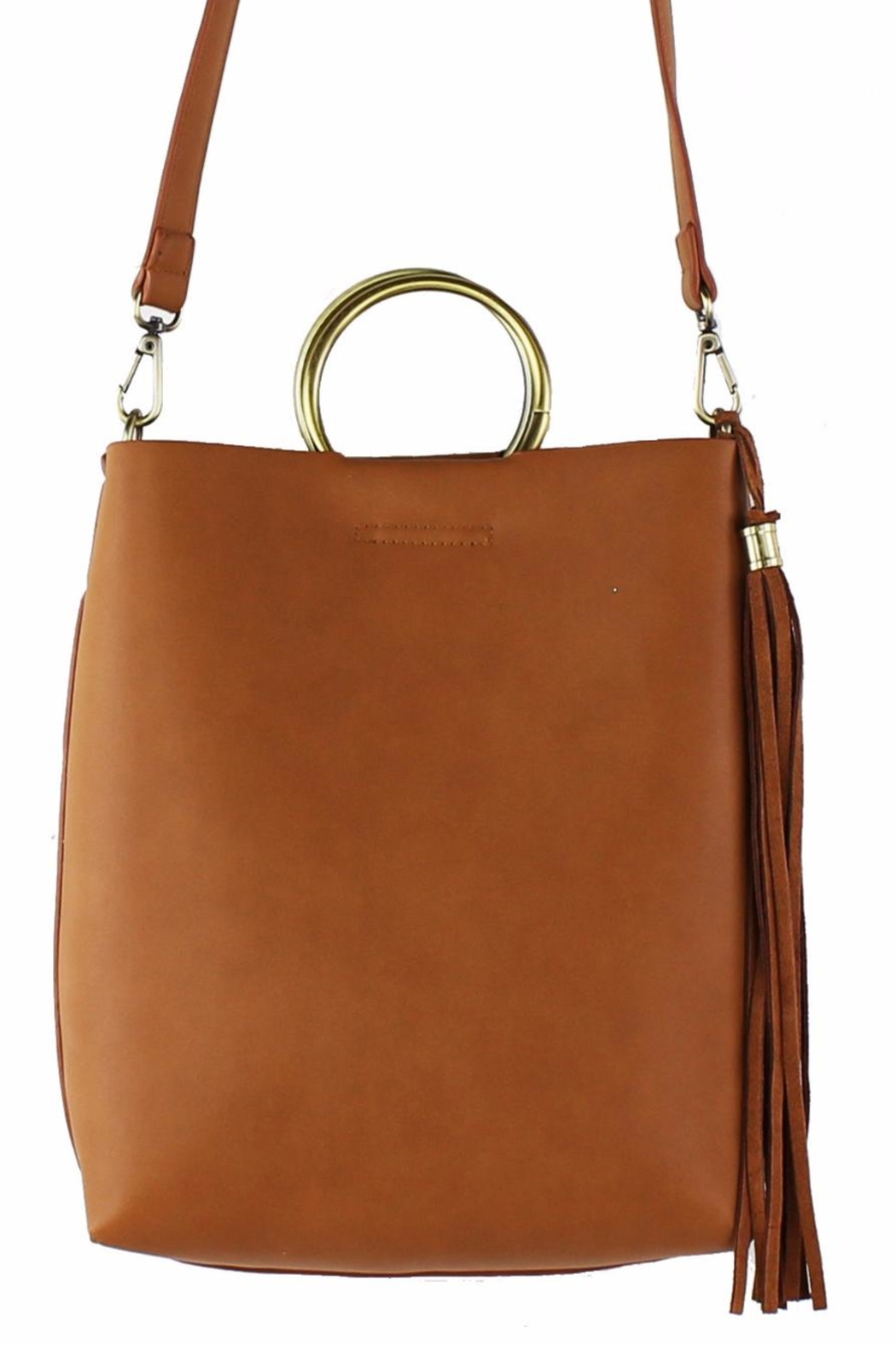 Street Level Mini Handle Tote - Front Cropped Image