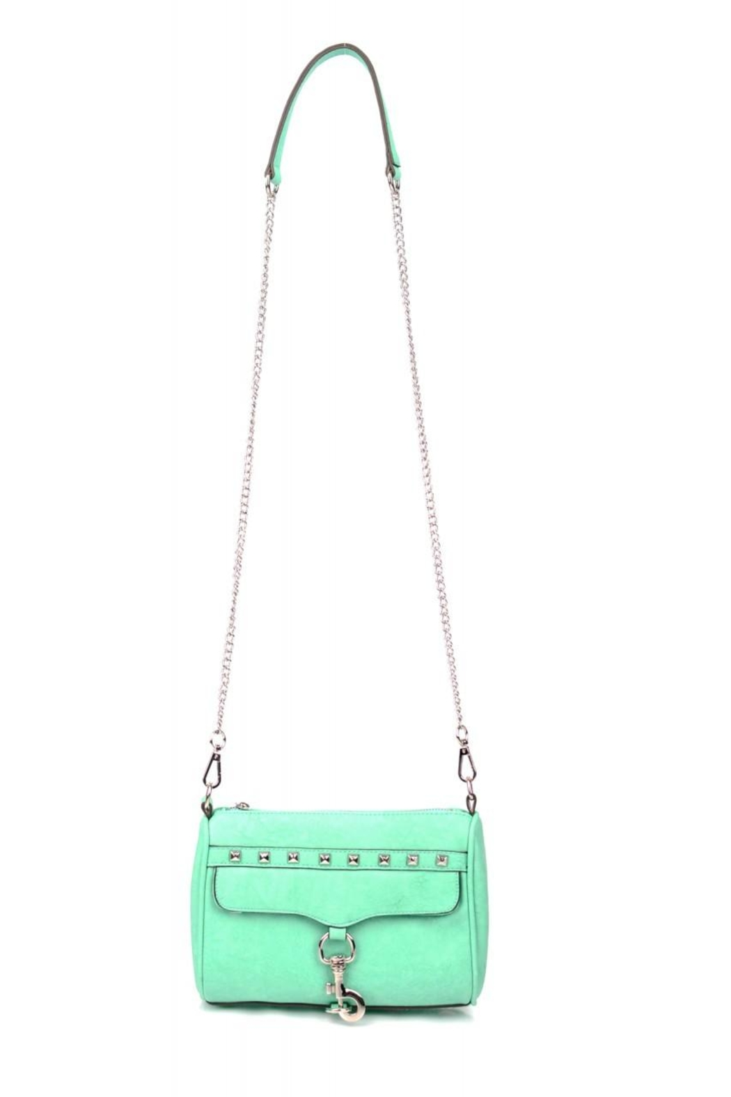 Street Level Mint Chain Satchel - Front Cropped Image