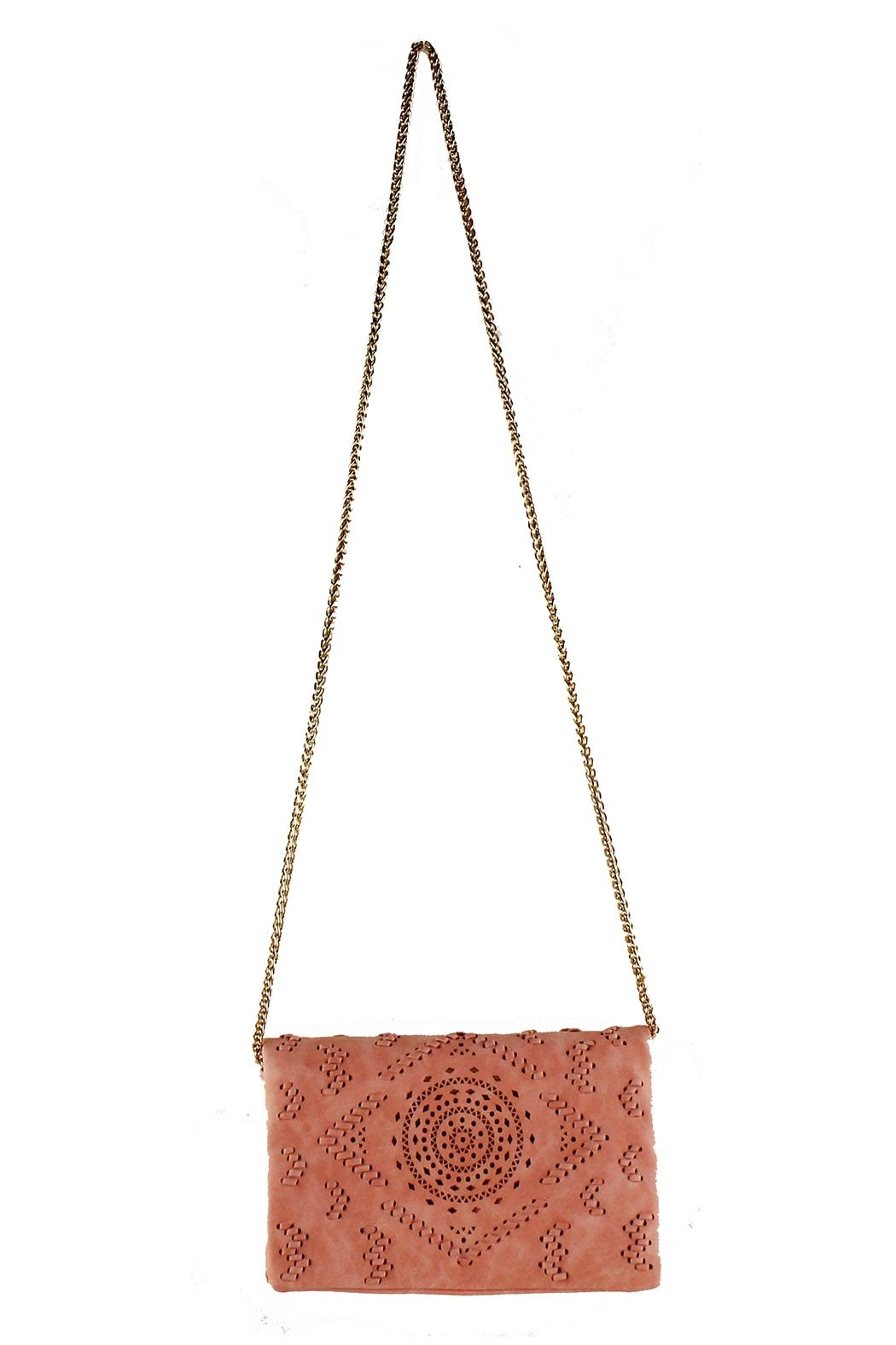 Street Level Perforated Detail Crossbody - Front Full Image