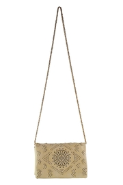 Street Level Perforated Detail Crossbody - Front full body