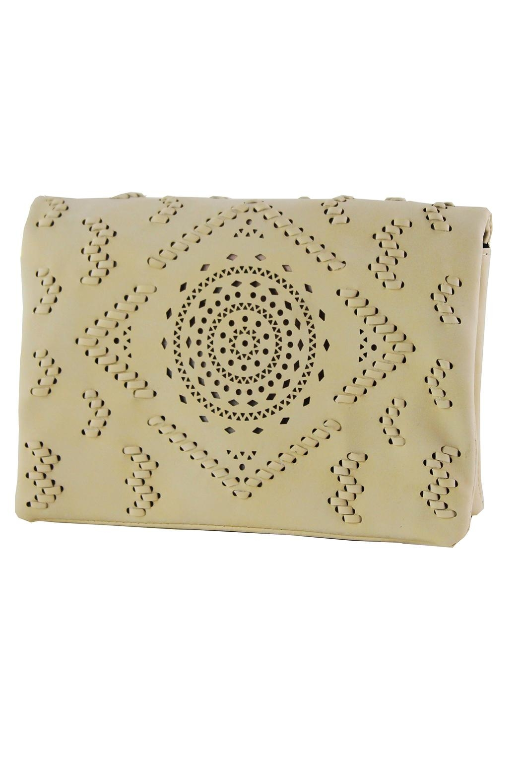 Street Level Perforated Detail Crossbody - Front Cropped Image