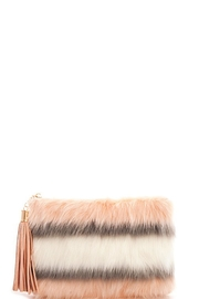 Street Level Striped Fur Clutch - Product Mini Image