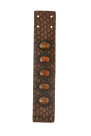 Streets Ahead Croc Embossed Bracelet - Front cropped