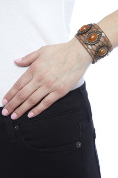 Shoptiques Product: Croc Embossed Bracelet