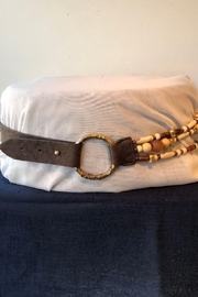 Streets Ahead Beaded Leather Belt - Product Mini Image