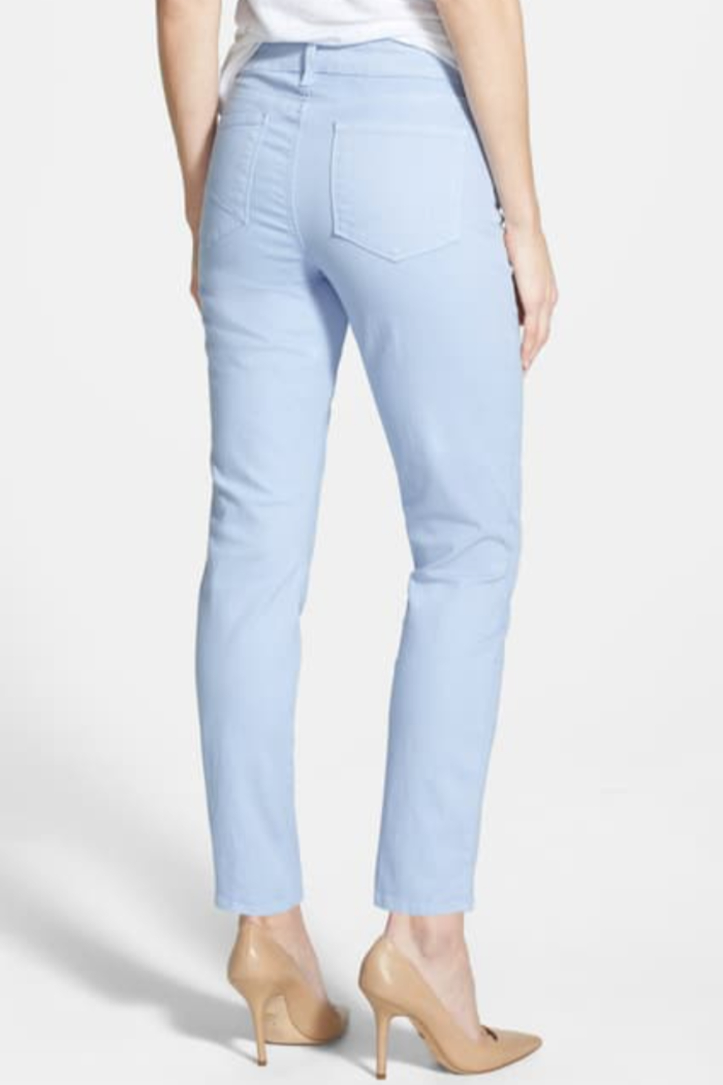 NYDJ Stretch Ankle Skinny Jeans - Front Full Image