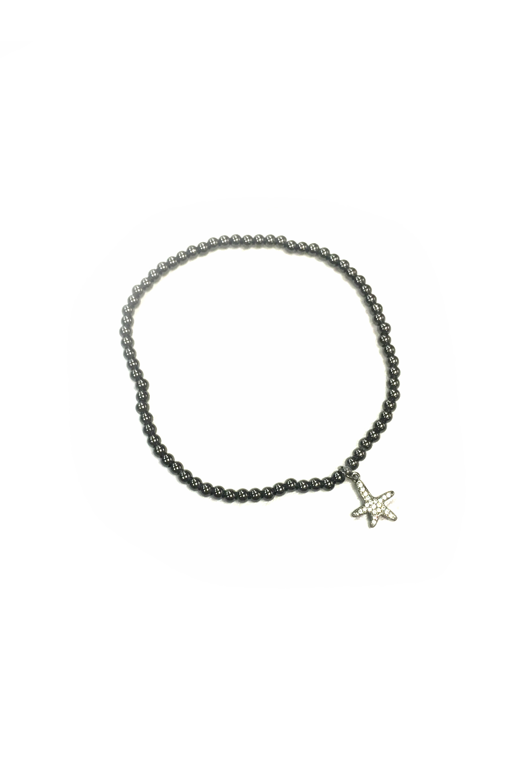 Love, Lisa Stretch Anklet w Pave Starfish Charm - Front Cropped Image