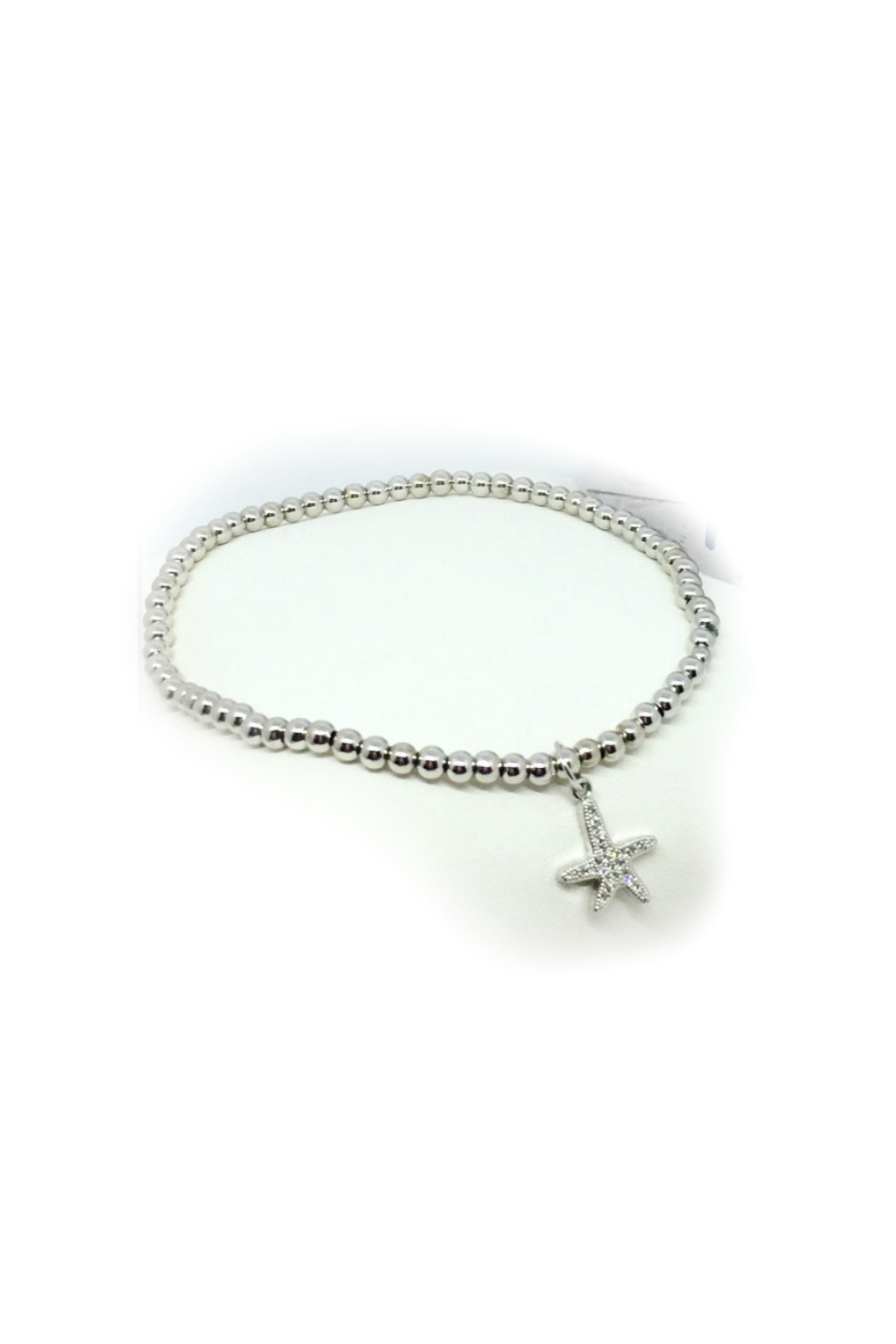 Love, Lisa Stretch Anklet w Pave Starfish Charm - Main Image