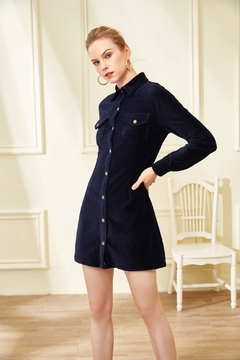 Julie Brown NYC Stretch Corduroy Dress - Product List Image
