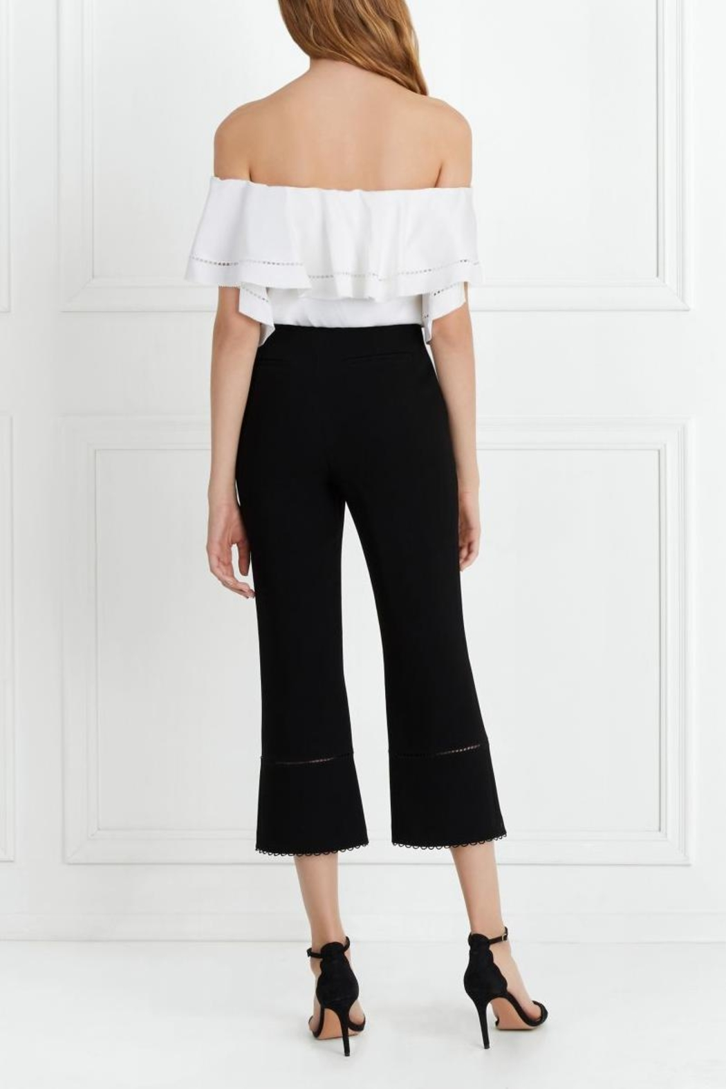 Rachel Zoe Stretch-Crepe Cropped Flare - Side Cropped Image