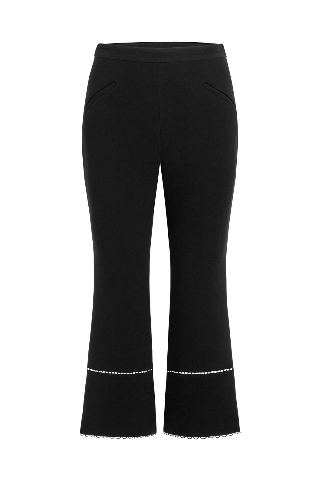 Rachel Zoe Stretch-Crepe Cropped Flare - Front Cropped Image