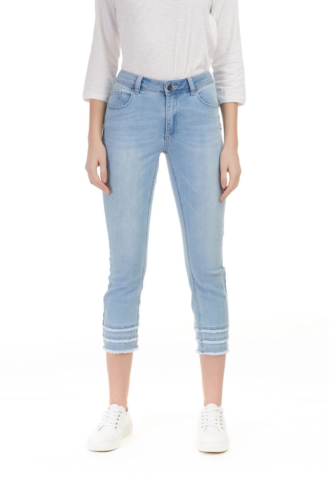 Charlie B. Stretch Denim Ankle Jean - Main Image