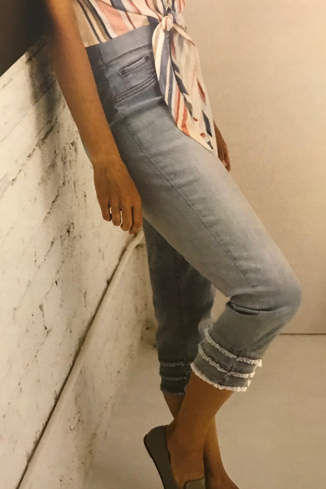 Charlie B. Stretch Denim Ankle Jean - Front Cropped Image