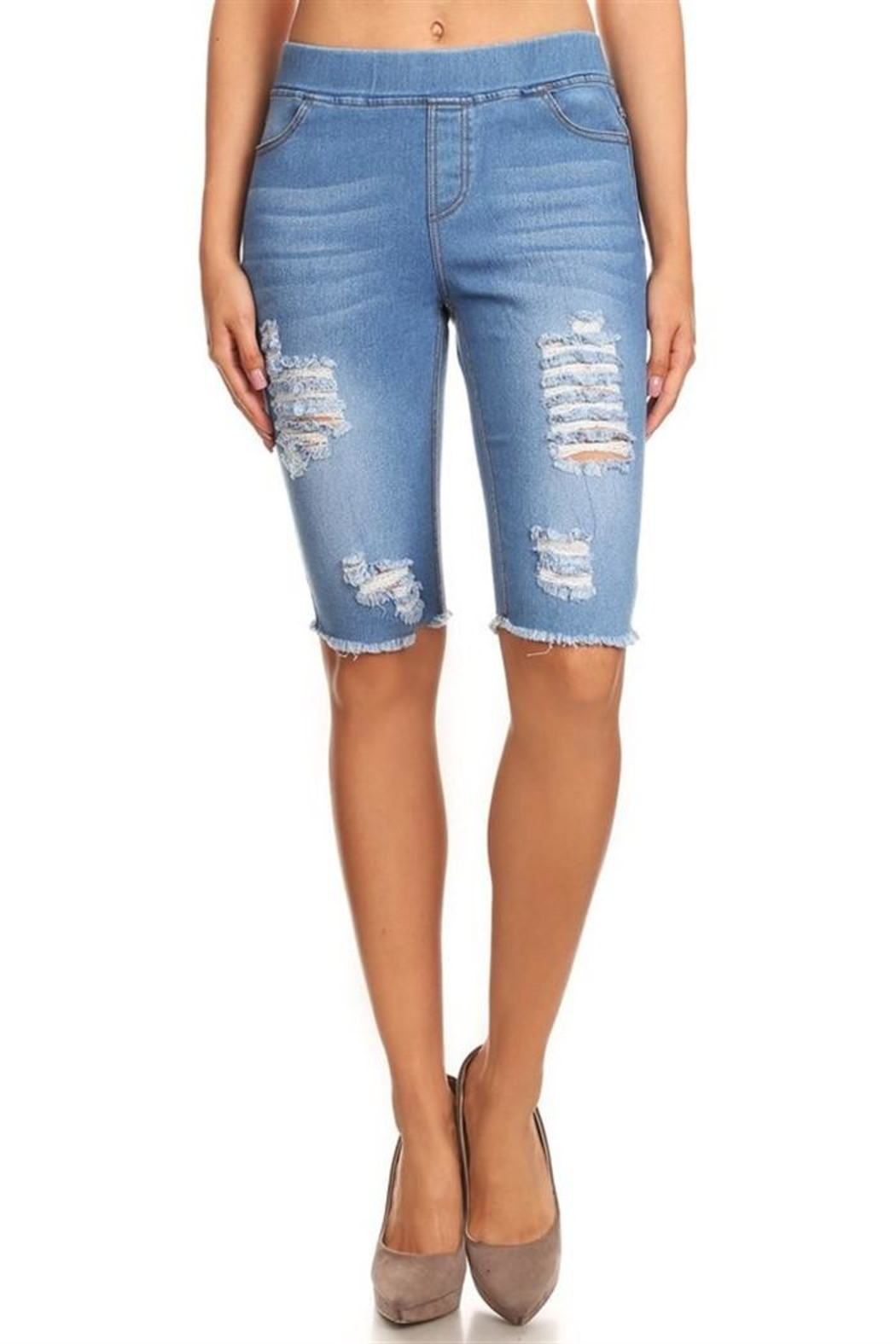 JVINI Stretch Denim Bermudas - Main Image