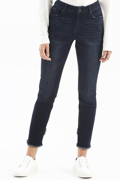 Charlie B. Stretch Denim Jeans With Released Crossover Hem - Product List Image