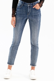 Charlie B. Stretch Denim Jeans With Released Crossover Hem - Product Mini Image