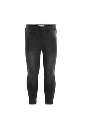Minymo Stretch Denim Leggings - Asphalt - Product Mini Image