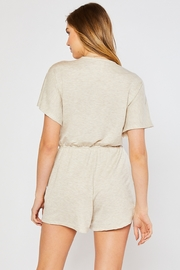 Lyn-Maree's  Stretch Knit Comfy Romper - Product Mini Image