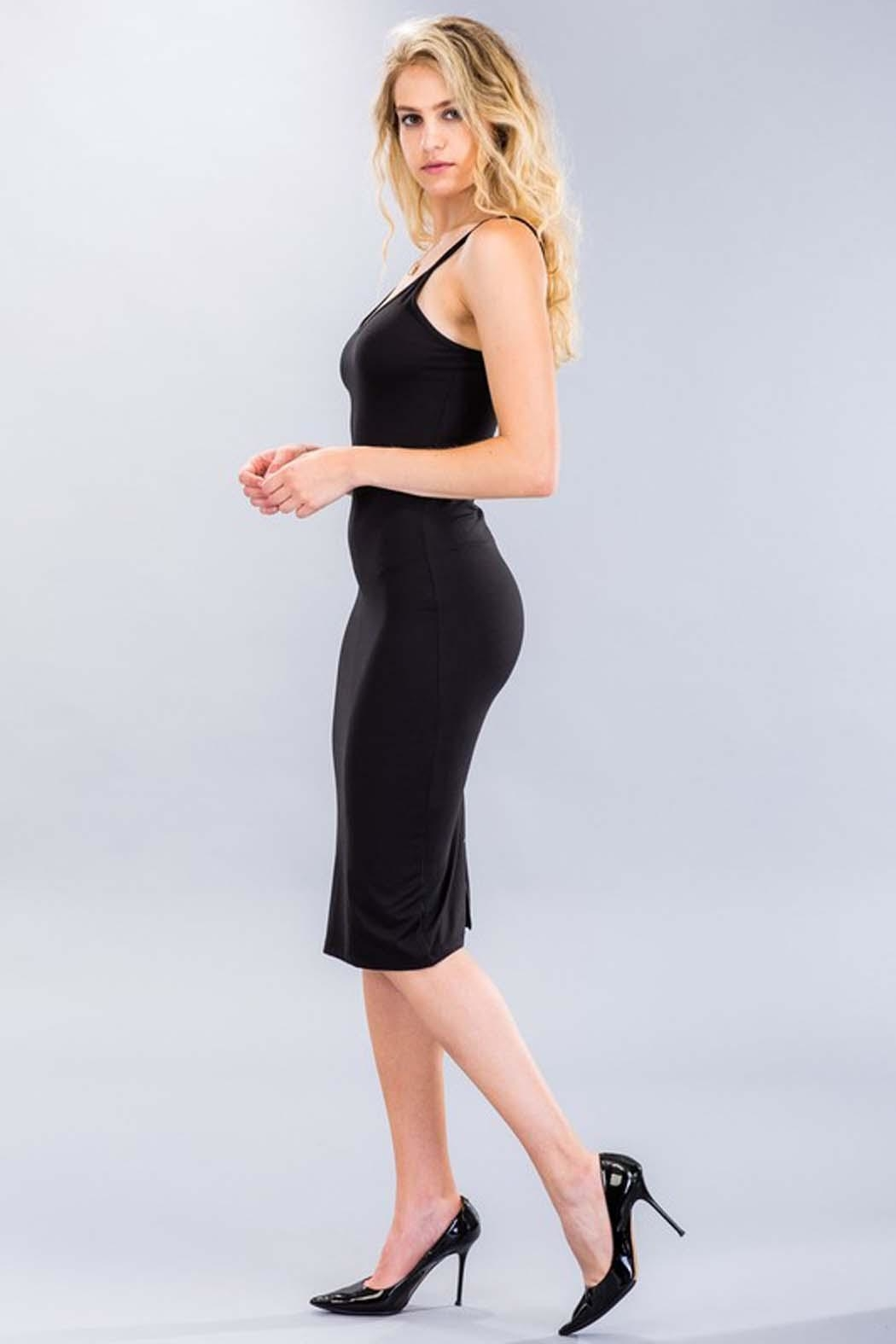 Capella Apparel Stretch Knit Dress - Side Cropped Image