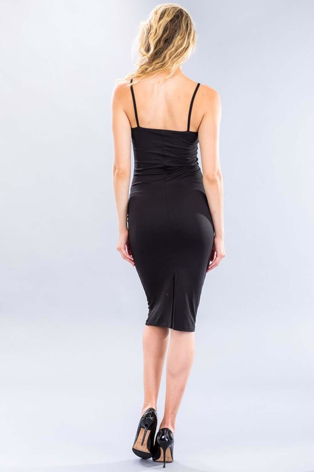 Capella Apparel Stretch Knit Dress - Front Full Image