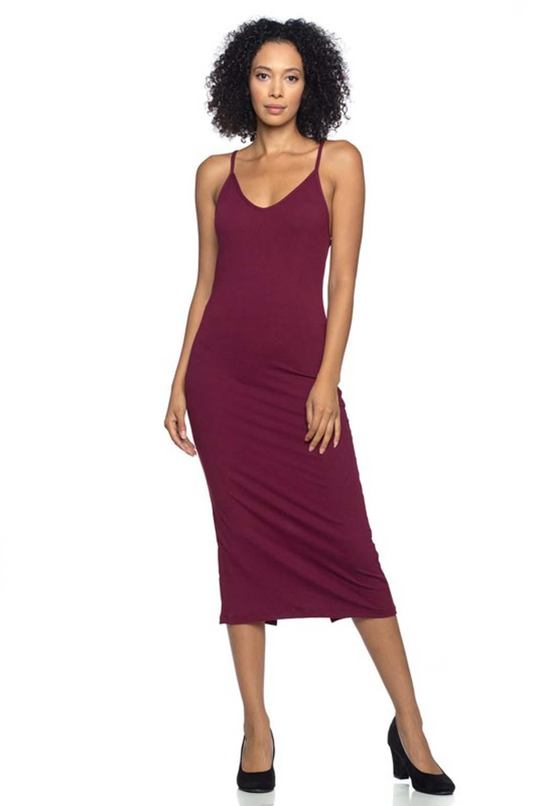 Capella Apparel Stretch Knit Dress - Front Cropped Image