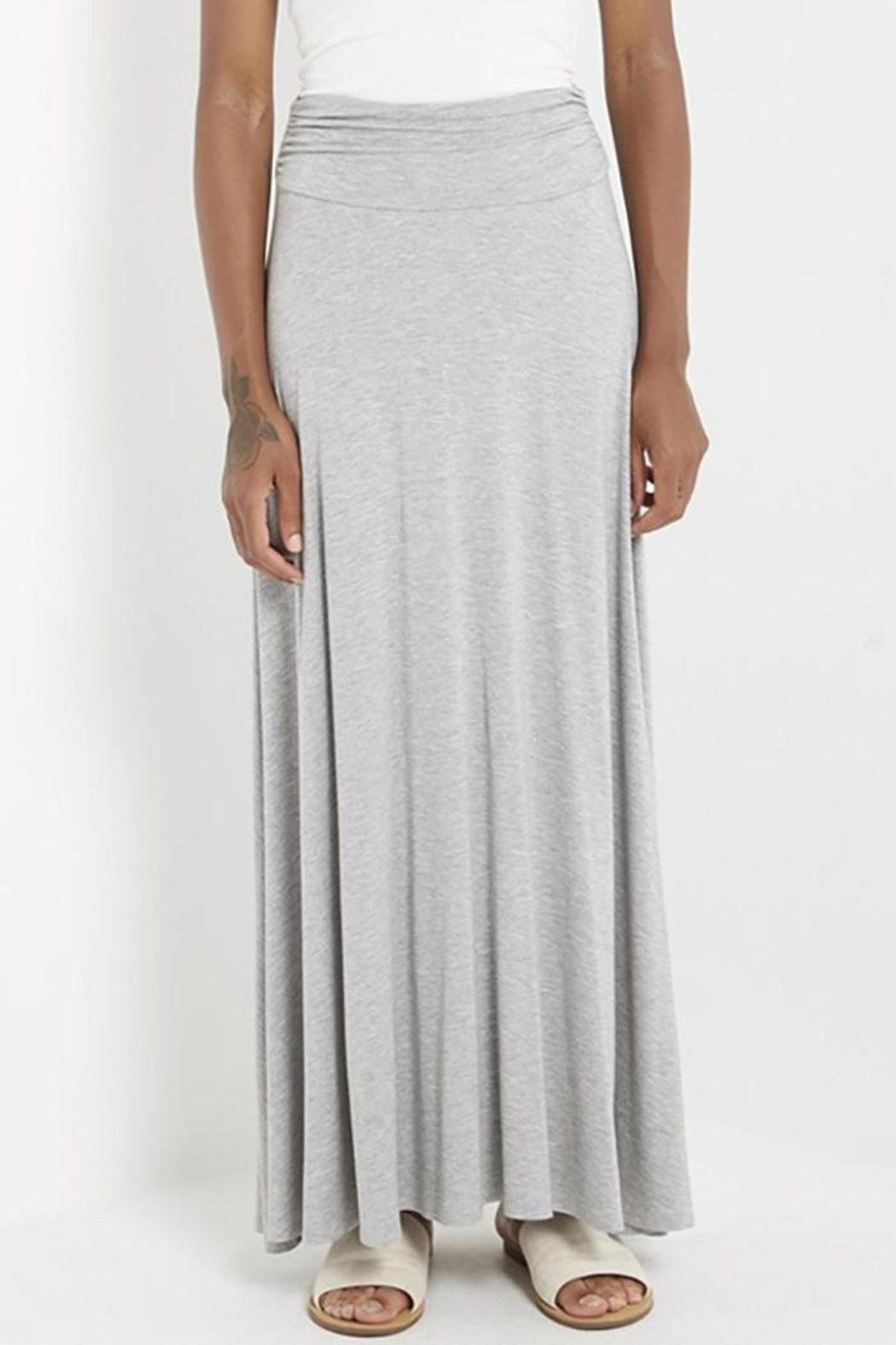 MaiTai Stretch Knit Maxi-Skirt - Front Cropped Image