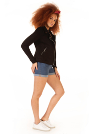 Dex Stretch Knit Moto Jacket - Front full body