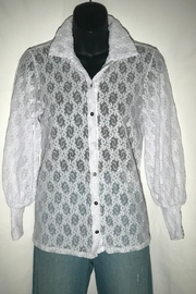Only Hearts Stretch Lace Button Down - Product Mini Image