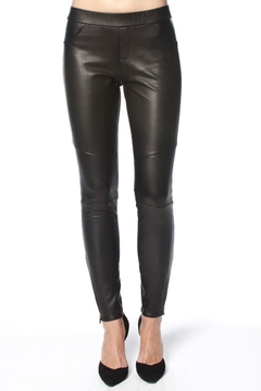 Madonna & Co Stretch Leather Leggings - Product List Image
