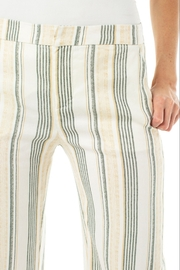 Liverpool Stretch Linen Cropped Trouser - Back cropped