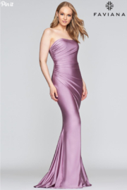 Faviana Stretch Satin Gown - Product Mini Image