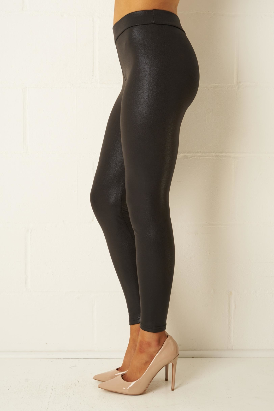 f15534380c8850 frontrow Stretch Shiny Leggings from Essex by Frontrow — Shoptiques