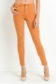 just black Stretch Skinny Corduroy - Front cropped