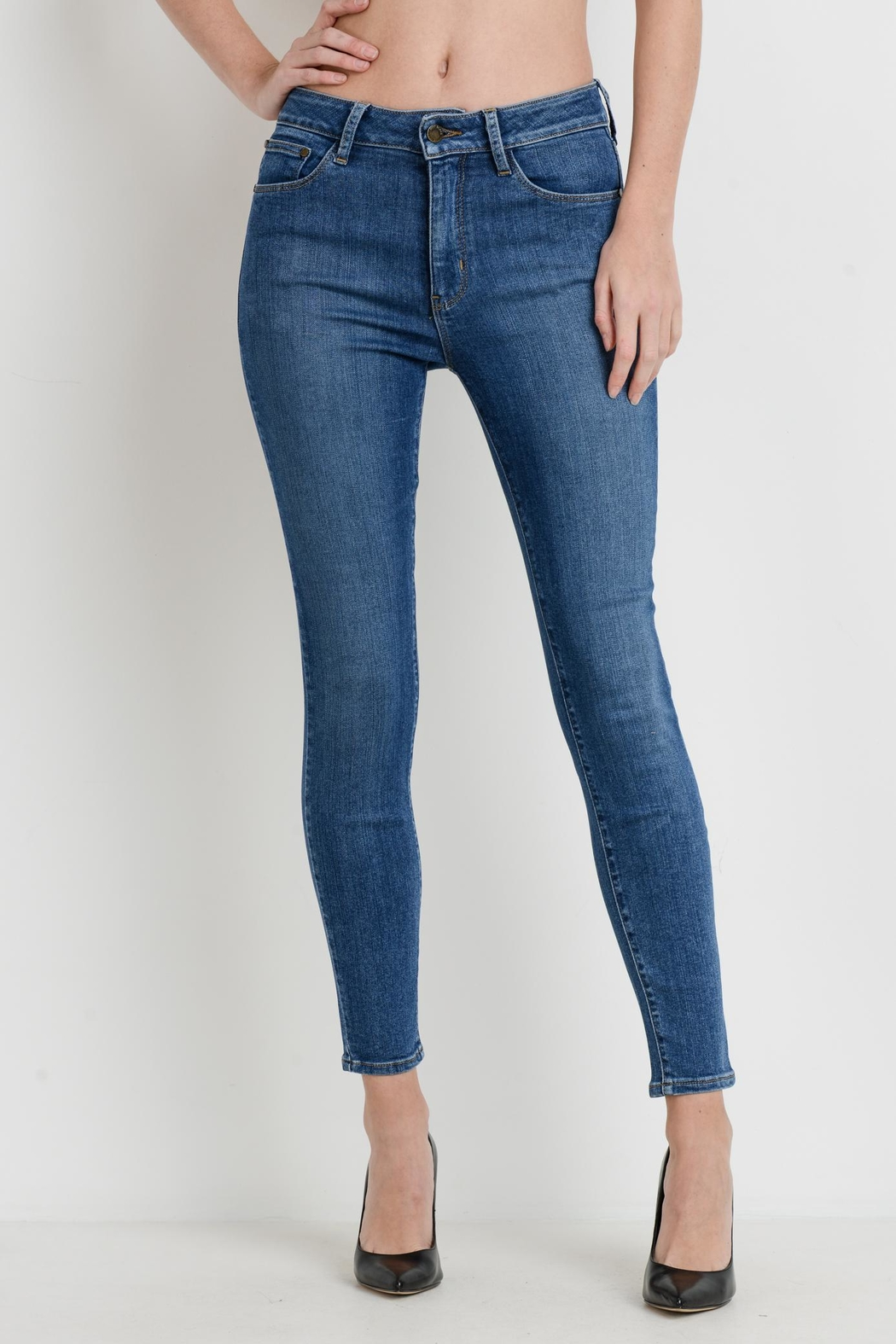 just black Stretch Skinny Jeans - Main Image