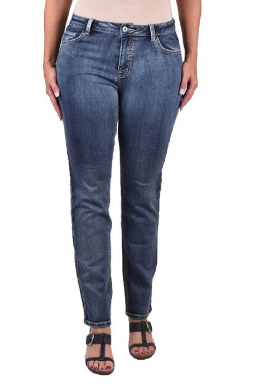 True Blue  Stretch Terry Jeans - Main Image