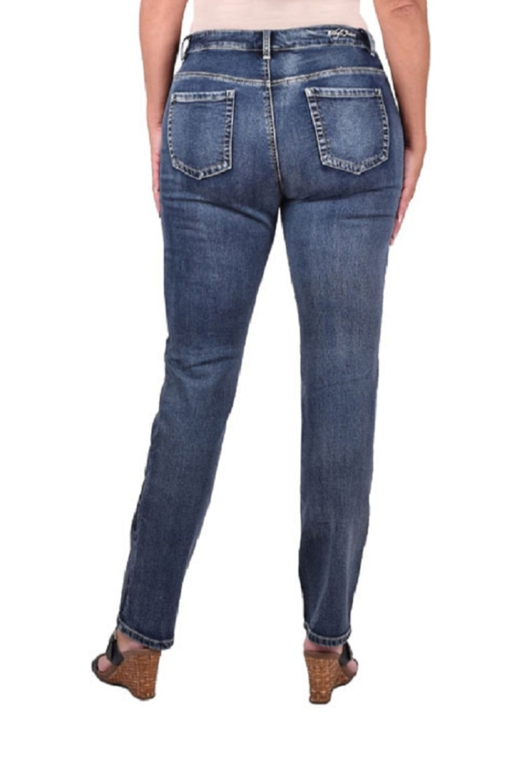 True Blue  Stretch Terry Jeans - Front Full Image